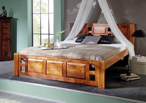 Rustikální postel masivní akát 180x200