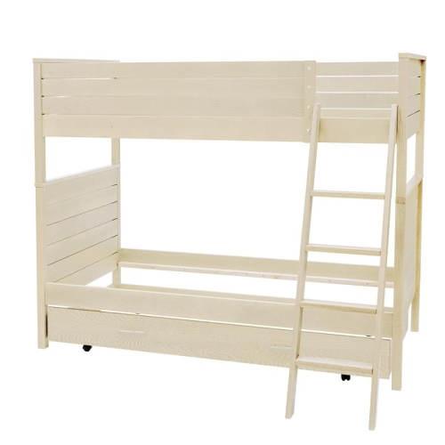 Masivní patrová postel s žebříkem