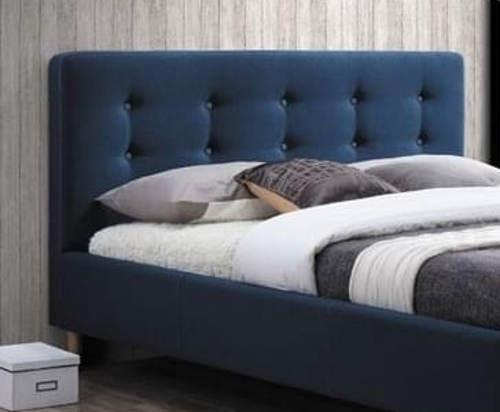 Modrá čalouněná postel 160x200 cm