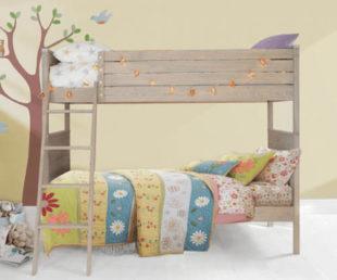 Patrová postel z masivního dřeva a dýhové překližky
