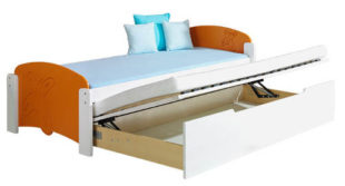 Rozkládací jednolůžková postel s úložným prostorem