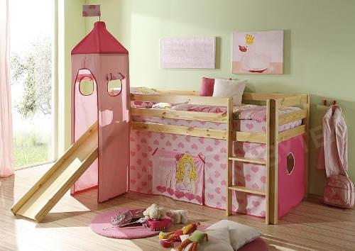 Růžová holčičí postel domeček