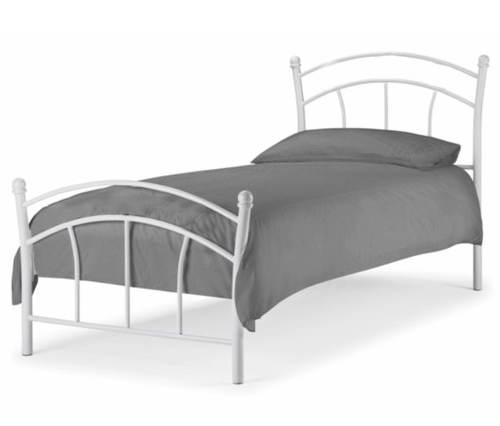 13809091613f Bílá kovová jednolůžková postel 90x200 cm