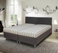 Čalouněná postel 180x200 využitelná jako dvě samostatné jednolůžka