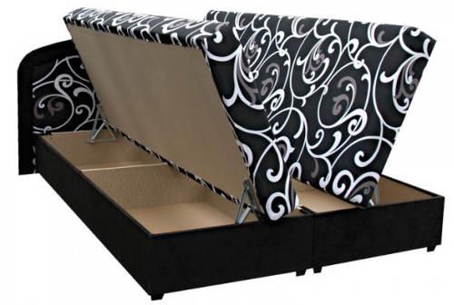 Čalouněná postel s velkým úložným prostorem