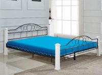 Elegantní stabilní dvoulůžková manželská postel z kovu