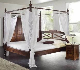 Koloniální postel 160x200 masivní akátové dřevo