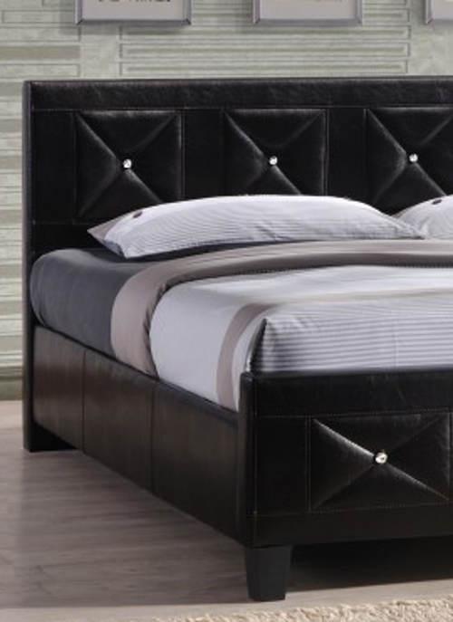Kožená čalouněná postel 180x200 cm