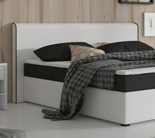 Bílo-černá americká postel