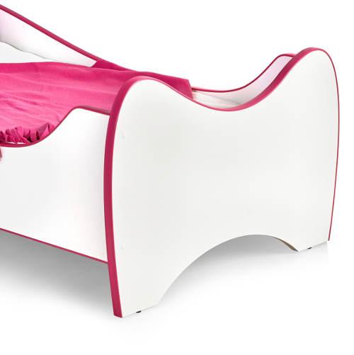 Bílo-růžová holčičí postel