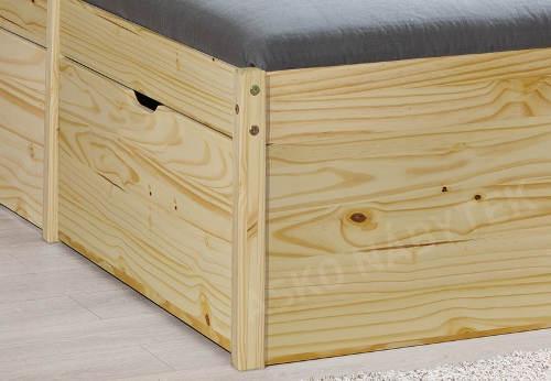 Borovicová manželská postel s šuplíky