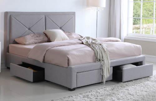 Čalouněná postel se šuplíky