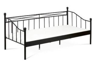 Černá kovová postel Darja 90x200 cm