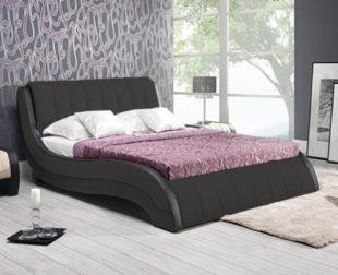 Designová postel ve tvaru vlny