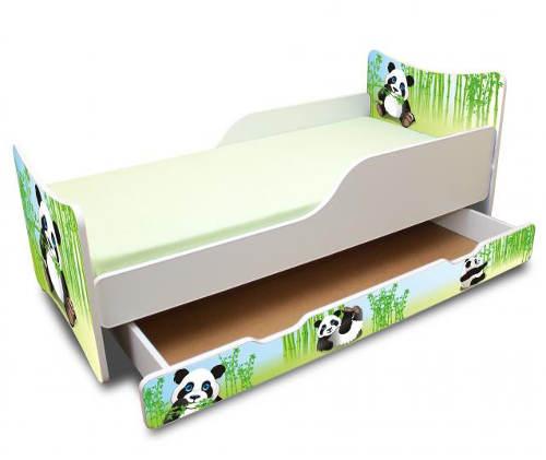 Dětská postel Panda s úložným šuplíkem