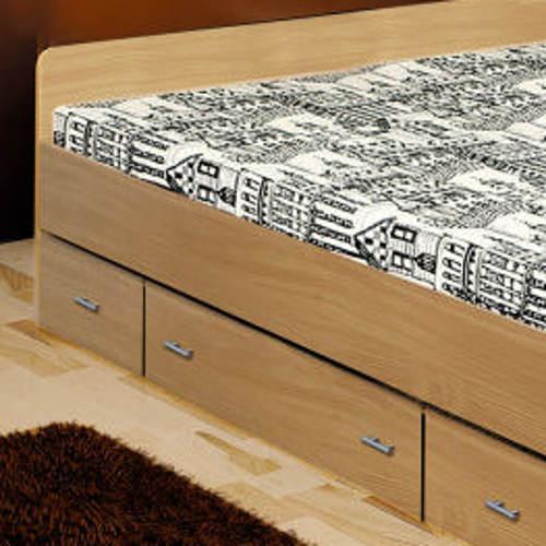 Dřevotřísková manželská postel s šuplíky