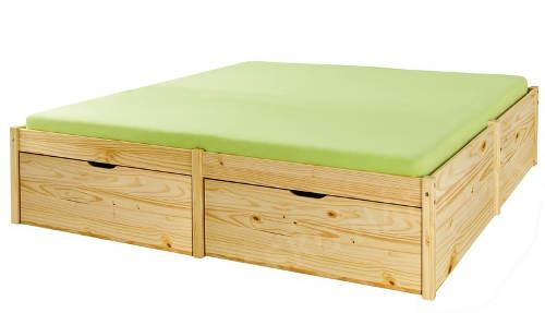 Dvoudlůžková postel masív borovice