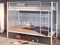 Kovová patrová postel Ebru 90x200 cm