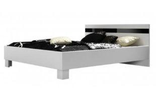 Levná bílo-černá postel 160x200 cm