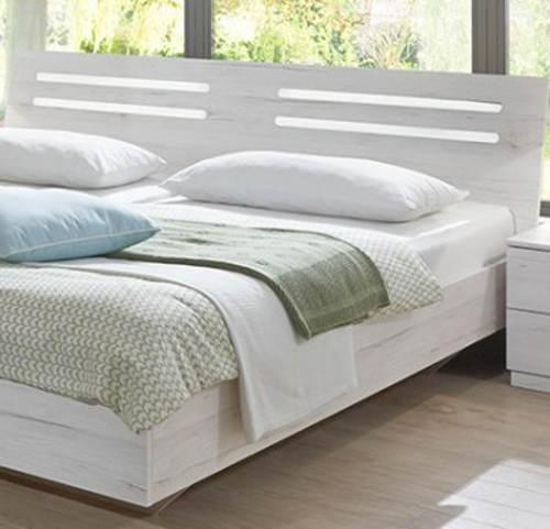 Levná manželská postel bílý dub