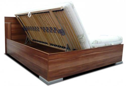 Maželská postel s výklopnými rošty