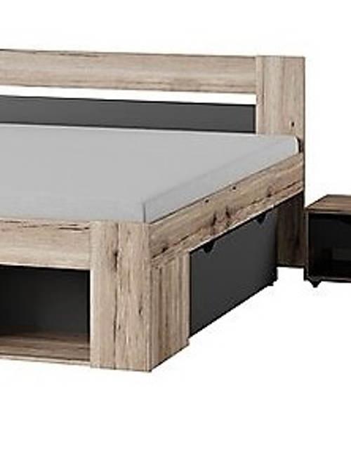 Manželská postel s výsuvnými šuplíky
