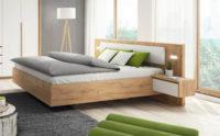 Moderní postel včetně nočních stolků a LED osvětlení