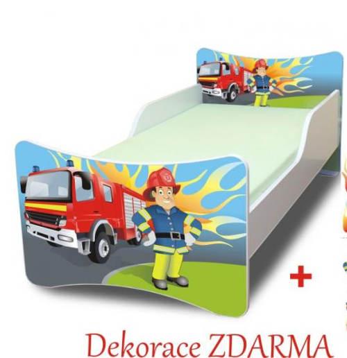 Obrázková dětská postel požárník
