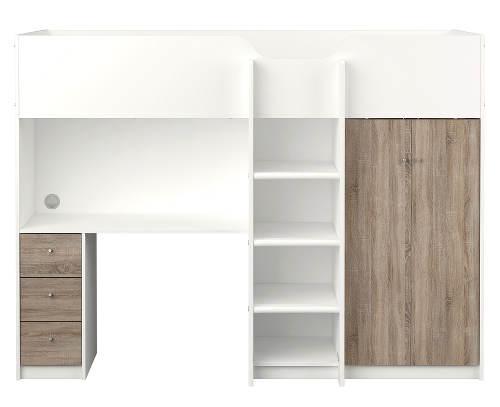 Poschoďová postel se skříní a psacím stolem