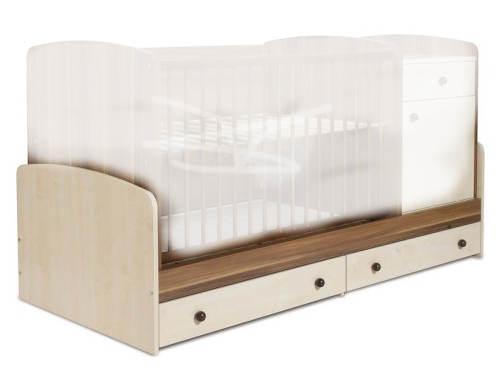 Postýlky přestavitelná na dětskou postel
