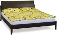 Tmavá manželská postel z kaučukovníku
