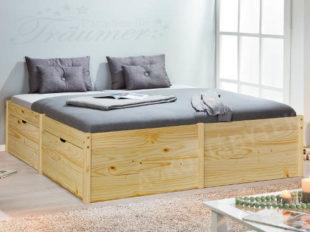 Vyvýšená postel se zásuvkami Lausanne 180x200 cm