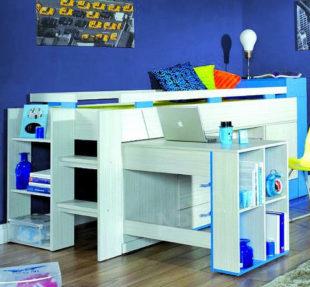 Zvýšená studentská postel s pc stolkem