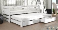 Bílá dětská postel s výsuvnou přistýlkou