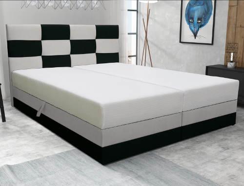 Černobílá kompletní manželská postel