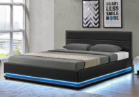 Dvoulůžková postel s RGB LED osvětlením