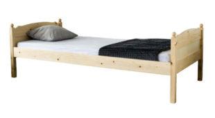 Levná smrková jednolůžková postel na chalupu