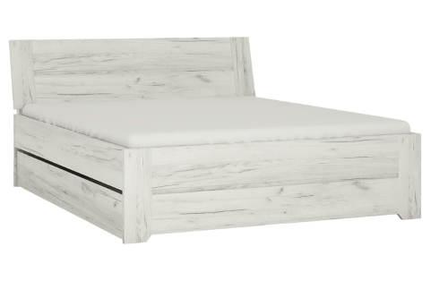 Praktická univerzální postel bílý dub