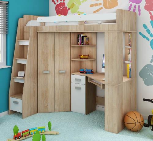 Rohová postel do malého dětského pokoje