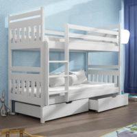 Romantická patrová postel do holčičího pokoje