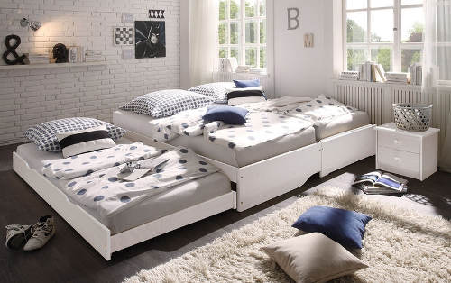 Rozkládací trojlůžková postel