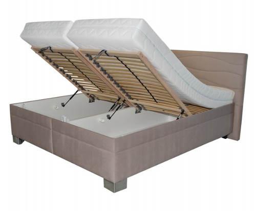 Čalouněná polohovací manželská postel