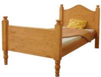 Dřevěná rustikální jednolůžková postel