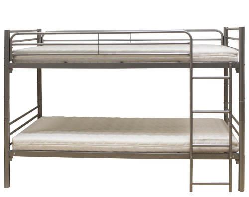 Jednoduchá poschoďová postel z kovu