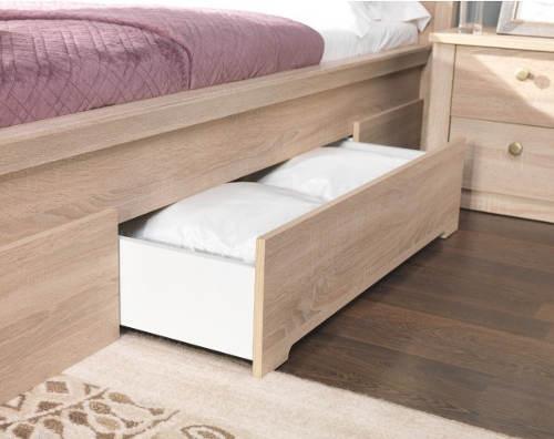 Manželská postel s úložným šuplíkem