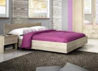 Nízká vznašející se postel dub sonoma