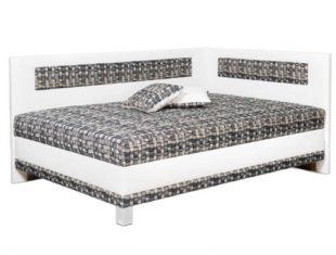 Rohová čalouněná postel francouzského stylu