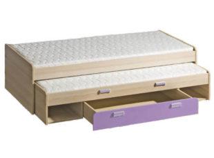 Rozkládací postel s přistýlkou do dětského pokoje