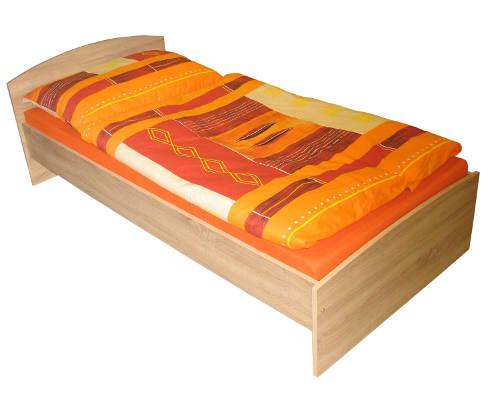 Výprodejová jednolůžková postel z lamina