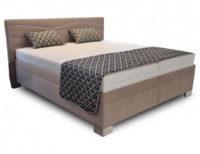 Vysoká béžová čalouněná postel 180x200 cm
